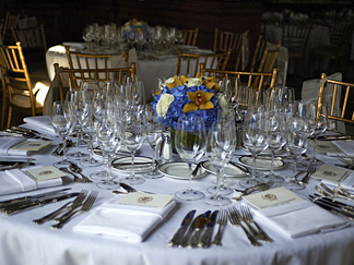 Dinner Dance 150th Anniversay Gala table setting